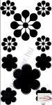 Fekete falmatrica - Virágos #56