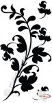 Fekete falmatrica - Indás #59