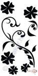 Fekete falmatrica - Indás #61