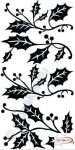 Fekete falmatrica - Levelek - Indás #76