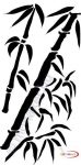 Fekete falmatrica -Bambusz #82