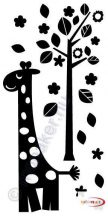 Fekete falmatrica - Zsiráf figura - Állatos #96