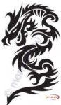 Fekete falmatrica - Sárkányos #160