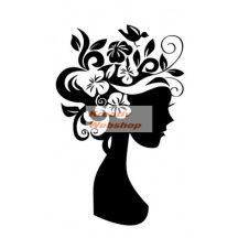 Kreatív dekor - Virágos fej