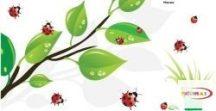 Falmatrica - Tavaszi levelek katicával #4