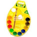 Kreatív hobby - Crayola vízfesték készlet színes palettával