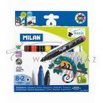 Varázsfilc készlet kicsiknek - 8 vastag színű filc + 2db varázstoll a színváltáshoz - MILAN
