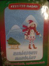 Készítsd magad! Papírfigura - Karácsonyi manólány