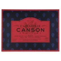 CANSON Héritage merített, savmentes akvarellpapír-tömb 100 % pamutból, (4 oldalt ragasztott)  20 ív, sima 31 x 41 cm