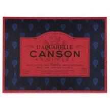 CANSON Héritage  merített, savmentes akvarellpapír-tömb 100 % pamutból, (1 oldalt ragasztott)  12 ív, sima 26 x 36 cm