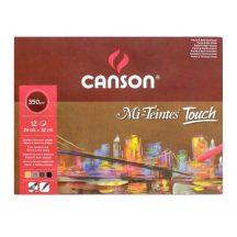 Mi-Teintes Touch CANSON, savmentes színes pasztellkarton-tömb, 350g/m2 12 ív, 4 színű