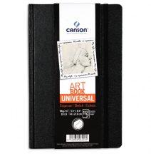 """CANSON ArtBooks: """"UNIVERSAL"""", vázlatkönyv, finom szemcsés papír, rögzítő gumipánt, belső tasak 96g/m2 112 ív 14 x 21,6"""