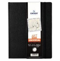"""CANSON ArtBooks: """"UNIVERSAL"""", vázlatkönyv, finom szemcsés papír, rögzítő gumipánt, belső tasak 96g/m2 112 ív 21,6 x 27,9"""