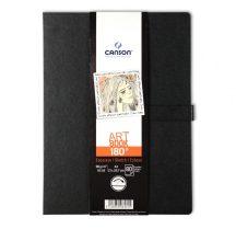 """CANSON ArtBooks: """"180°"""", finom szemcsés papír, kinyitva síkfekvésű vázlatkönyv (két oldal haszálható egyszerre) 96g/m2 80 ív 21,6 x 27,9"""