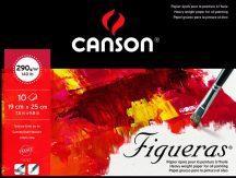 FIGUERAS tömb, savmentes olaj- és akrilfestő papír, vászonjellegű felülettel, (rövid oldalán ragasztott) 290g/m2 10 ív 19 x 25
