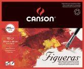 FIGUERAS tömb, savmentes olaj- és akrilfestő papír, vászonjellegű felülettel, (4-oldalt ragasztott) 290g/m2 10 ív 38 x 46