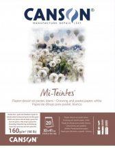 Mi-Teintes CANSON, savmentes színes pasztelltömb, kétoldalas fehér, 32x41 cm