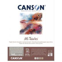 Mi-Teintes CANSON, savmentes színes pasztelltömb, kétoldalas szürke árnyalatos, 32x41 cm