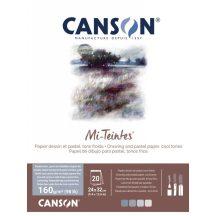 Mi-Teintes CANSON, színes pasztelltömb, 160g/m2 20 lapos, kék árnyalatos, 24 x 32