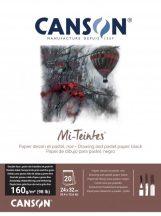 Mi-Teintes CANSON, savmentes színes pasztelltömb, kétoldalas, fekete, 24x32 cm