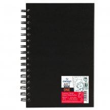 """CANSON ArtBooks: """"ONE"""", spirálkötött, finom szemcsés papír 100g/m2 80 ív 27,9 x 35,6"""