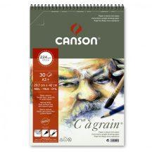 C á grain savmentes természetes fehér rajzpapír, finom szemcsés felülettel, tömb rövid oldalán spirálozott 224g/m2 30 ív A3+