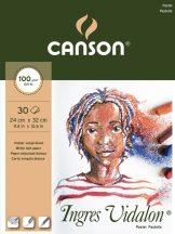 Ingres Vidalon CANSON, savmentes Ingres-papír, tömb kiszerelés 100g/m2 fehér 24 x 32