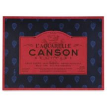 CANSON Héritage merített, savmentes akvarellpapír-tömb 100 % pamut, 300gr (4 oldalt ragasztott)  20 ív, sima 46 x 61 cm