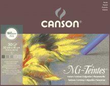 Mi-Teintes CANSON, savmentes színes pasztellkarton-tömb, (rövid oldalán ragasztott) 160g/m2 30 ív szort. 32 x 41 - Kifutó termék