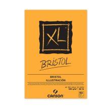 """CANSON  """"XL""""  BRISTOL extra- fehér, sima rajzpapír-tömb, rövid oldalán ragasztott, mikroperforált 180g/m2 50 ív A3 - MEGSZŰNT"""
