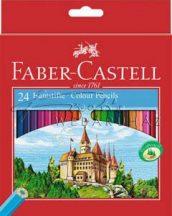 Színes ceruza készlet, Faber-Castell, 24 színű színesceruza készlet
