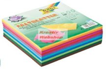 Origami papír, 10 színű vegyes színes hajtogató készlet, 10x10 cm, 500 lapos, gazdaságos kiszerelés