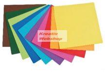 Origami papír - Élénk - 10 színű hajtogató készlet 20x20 cm, 500 lapos gazdaságos készlet