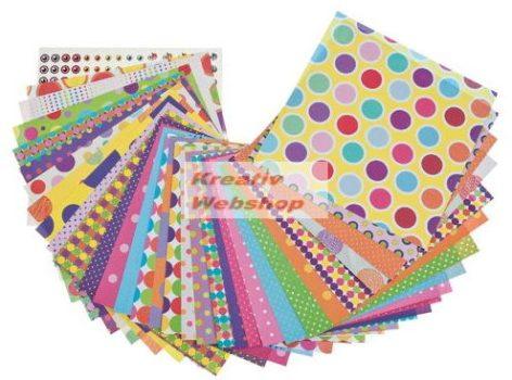 Origami papír - CSUPA PÖTTY! - 60 lapos hajtogató készlet 20x20 cm - Újra kapható!