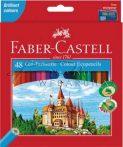 Színes ceruza készlet, Faber-Castell, 48 színű színesceruza készlet