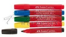Textilfestő filctoll készlet - Faber-Castell - Piros, sárga, kék, zöld, fekete