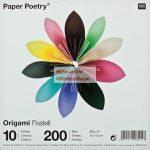 Kreatív hobby - Origami papír - Pasztell hajtogató készlet 15x15 cm