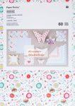 Origami papír - Virágos romantika - hajtogató készlet, 60 lapos csomag