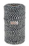 Fekete-fehér zsinór, 100 m x 2mm