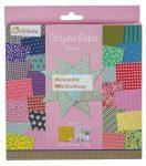 Origami papír, Virágos hajtogató készlet, 20x20cm, 60 lap