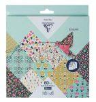 Origami papír - Virágos hajtogató készlet, vegyes méretek, 20x20cm, 15x15cm, 10x10cm - összesen 60 l