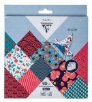 Origami papír - Geometrikus minták, hajtogató készlet, vegyes méretek, 20x20cm, 15x15cm, 10x10cm