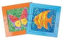 Festő készlet gyerekeknek, pöttyökkel festő - 12 képet tartalmaz
