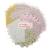 Origami papír - Vadvirágos hajtogató készlet, 20x20cm, 60 lap