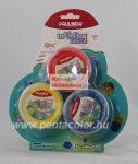 Kreatív hobby - Gyurma készlet - Levegőn száradó habgyurma készlet - Neon színek - 3x33