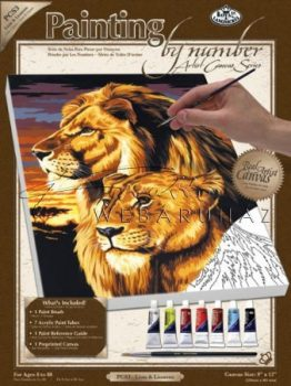 Kreatív hobby - Oroszlánok