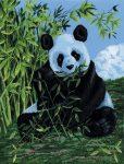 Kreatív hobby - Panda, kifestő festővászonra