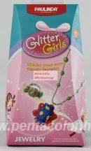 Szemcsés habgyurma készlet - Lányoknak: virágos nyaklánc és virágos gyűrű