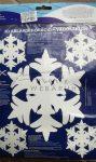 Hungarocell hópelyhek, vegyes készlet, 1db 18cm + 4 db 10cm - polisztirol hópehely készlet