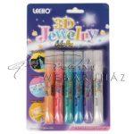 3D Gyöngyház díszítő toll - 6 színű készlet